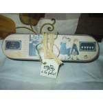 Pencil case or empty pocket box made of ceramic