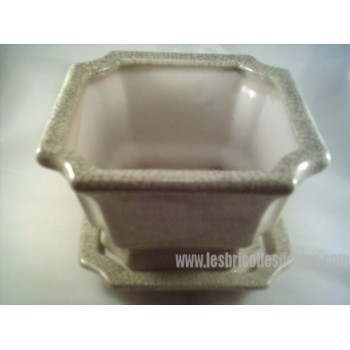 Ceramic Planter Flower Pot Plant Container Saucer Lg