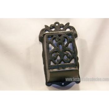 Wall Cast Iron Match Box Holder