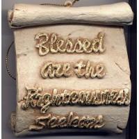 Decorative Plaque Parchment Righteousness Seekers