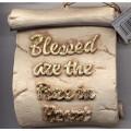 Decorative Plaque Parchment Blessed Pure Heart