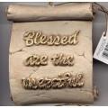 Decorative Plaque Parchment Blessed Merciful