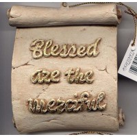 Decorative Plaque Parchment Blessed Merciful