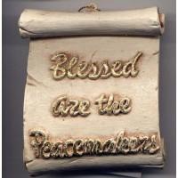 Decorative Plaque Parchment Blessed Peacemakers