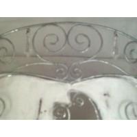 Metal Wall Pocket Door greeter White Distress Beads