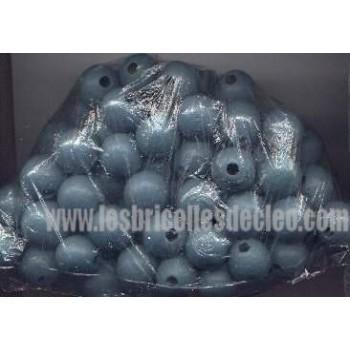 Wood Beads Round Blue Craft Macrame Crafting