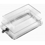 Large clear thermostat protector guard locking