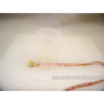 Bouteilles ordonnance transparentes couvercles 3.5 cm (56)