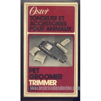 Oster Pet Groomer Trimmer Instruction Blade Guard