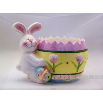 Bowl or Container Ceramic Easter Bunny Egg