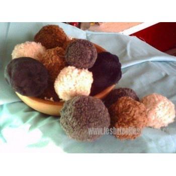 Balles Fourrure Synthétique Décoration