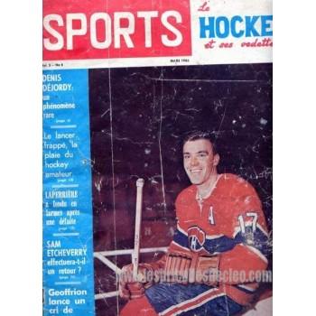 Vintage Sport Magazine 1965 Maurice Richard