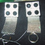 Vintage Wrap Around Cufflinks Silver Black Stones