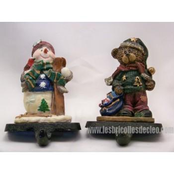 Christmas stocking Cast iron hooks for the fireplace shelf