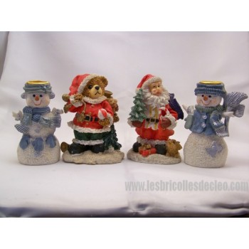 Christmas figurines Santa Claus Candlestick