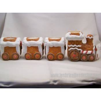 Candle holder - Candlestick - Little Christmas train