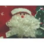 Bas Noël Rouge Fait Main 3D Père Noël Neige