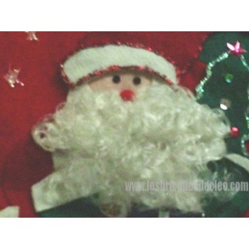 Red Christmas Stocking 3D Santa Claus