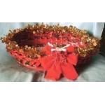 Panier Noël Rouge Fait Main Porte Cartes