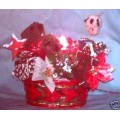Lighted Christmas Basket Table Center
