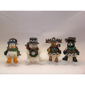 Christmas Cake Cheese Topper Figurines 4