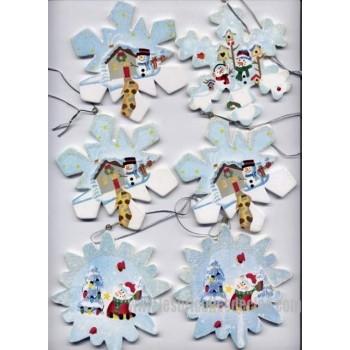 Vintage Christmas Snowflakes Ornaments