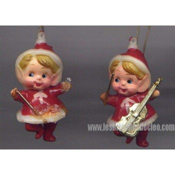 Vintage Christmas Ornaments Red Glass