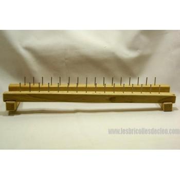 Tricotin rectangulaire en bois 32 picots