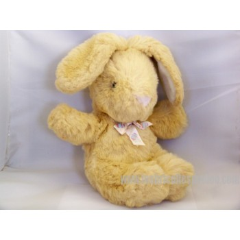 Beige Stuffed Plush Bunny Padded Animal Easter 12""