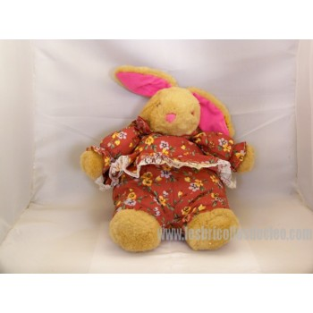 "Plush Beige Rabbit Padded Animal Pajamas Bunny 12 """