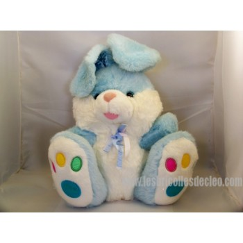 Blue Stuffed Bunny Padded Animal Easter 12.5""