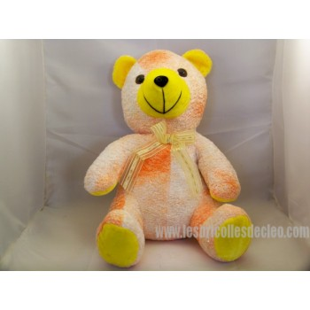 Pooh Plush Orange Yellow Fluo Padded 12""
