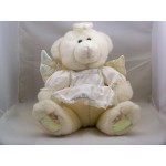 Ange Peluche Animal Rembouré Robe Blanche Ailes