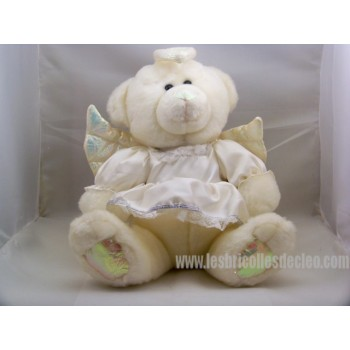 Angel Plush Teddy Bear Stuffed Animal White Dress Wings