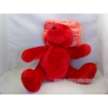 "Teddy Bear Red Plush Padded Hat 10 """