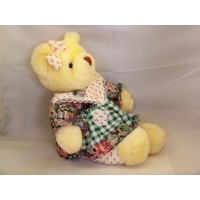Ourson Peluche Fille Animal Rembourré Jaune 12""