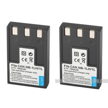 NB-1LH 3.7 V 1500mAh Battery for Canon camera serie Powershot | IXY