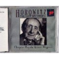 Horowitz The last recording Chopin Haydn Liszt cd