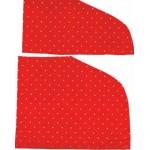 Retailles Tissus Crazy Patchwork Rouge à Pois