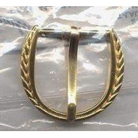 Belt Buckle Gold Brass Medieval Costumes C-4916
