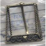 Belt Buckle Gold Brass Medieval Costumes C-55446