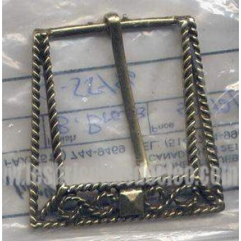 Belt Buckle Gold Brass Medieval Costumes C-55446
