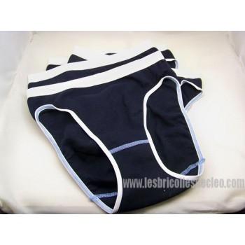 Culotte polyester/coton taille haute jambe echancree 4
