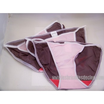 Polyester Panties Elasticated Sides Low-rise Cut